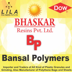 Bansal Polymers : Importer and Traders of all kind of plastic granules and grinding, Also manufacturer of polythene bags and sheets
